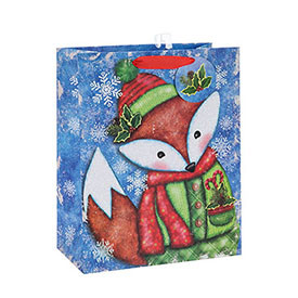 Latest Good Quality Decorative Christmas Gift Paper Package Bag with Different Sizes