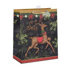 Latest Arrival Unique Design Christmas Gift Bags with Different Size with 3 Designs Assorted
