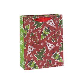 Custom Offset Printing Matte Lamination Christmas Paper Gift Bags