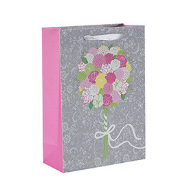 Hot Sale Simple Design White Cardboard Fancy Paper Wedding Gift Bag with 4 Designs Assorted