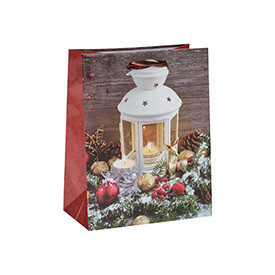 Lovely Christmas Printed Decoration Gift Paper Bags with 4 Designs Assorted