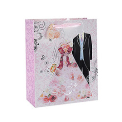 Environment Protecting Wedding Door Promotional Gift Paper Bag with 4 Designs Assorted