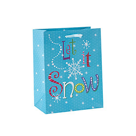 2018 Hot Selling Fancy Design Paper Bags Christmas Gift Paper Bag Wholesale with 2 Designs Assorted