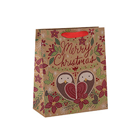Wholesale Customized Various Sizes Unique Design Paper Gift Bag with 2 Designs Assorted