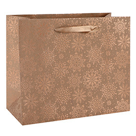 Horizen Recycled Brown Kraft Paper Bags Merry Christmas Craft Gift Bags 3 Designs Assorted