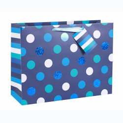Everyday White Card Paper Custom Big Bow Paper Bag