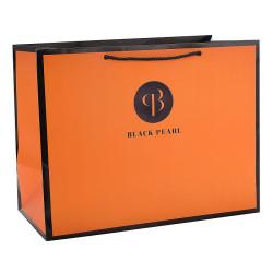 Black Pearl Custom Cosmetic paper bag