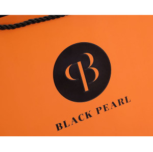Black Pearl Custom Cosmetic paper bag