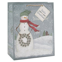 Merry Christmas customPaper Bags With Glitter