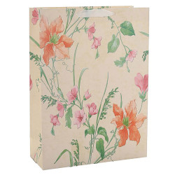 Everyday White Card Paper Custom Flower Paper Bag