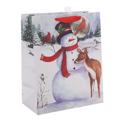 Merry Christmas custom Paper Bags With Glitter