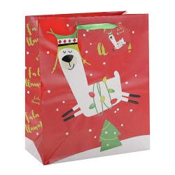 Merry Christmas alpaca custom Paper Bag