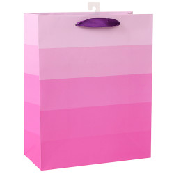 White card paper bag with Pink gradient