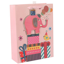 White card paper bag with 3D and glitter