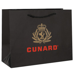 Personalised Luxury Cruises Paper Packaging Bags With Black,Red and Gold Printing