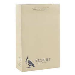 Desert Collection Personalised Paper Carrier Bags With Overall Embossed