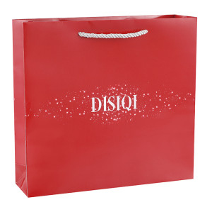 Cosmetics industry Customized White Card Paper Bag with Three Strands Of Rope