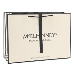 Latest Fashion,Jewellery&Homeware Customized Paper Packaging Bags Big Sized With Grossgrain Closure