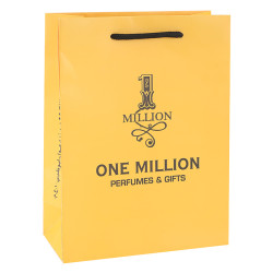 You Are One In Million Warm Yellow Printed Customized Paper Bags With PP handles