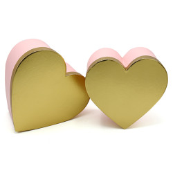 Heartshaped Paper Gift Boxes Set 3 For Valentine's Day or Special Ocassions With Stock Available