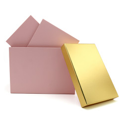 Wholesale Rectangular Paper Gift Boxes Paper Storage Boxes 3 Pcs Per Set With Stock Available