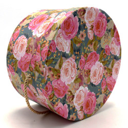 Luxury Cylindrical Packaging Flower Paper Box With Lid Set/3 (S/M/L)