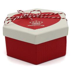 Sweet Love Hexagonal Paper Boxes Valentine's Day Gift Boxes Set/3