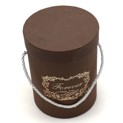 Hot Stamped Forever love you Chocolate Gift Box Flower Box Round Posy Box