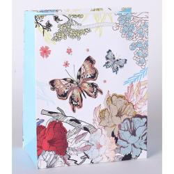 Everyday Butterfly Flower Spring Breath Design Paper Bag