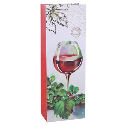Nice Printing Decorative Gift Packing Paper Everyday Wine Bottle Bag With Ribbon Handles