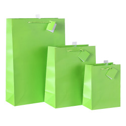 Wholesale Solid Color Gift Bags Made of Coated Art Paper Accepting Custom Colors and Sizes