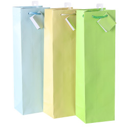 Solid Light Colors Paper Carrier Bags Wholesales Wine Gift Bags