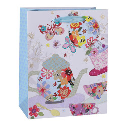 Brand New Spring Launch Of Our Tongle Paper Gift Bags With Hot foil Stamping On Front Side