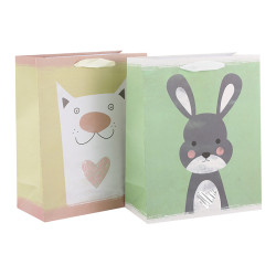 Animal Lover Paper Gift Bags Made Of 180gsm Art Paper With Hot Foil Stamping Direct Yiwu Factory Price Competitive