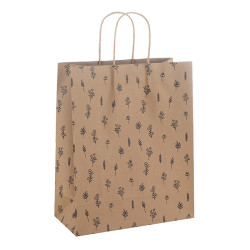 Summer Vocation Automatic Machine Made 150gsm Brown Kraft Paper Bags Direct Yiwu Factory Price Competitive
