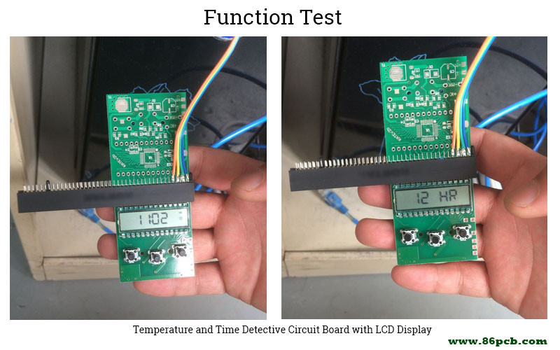 Temperature and Time Detective Circuit Board function test