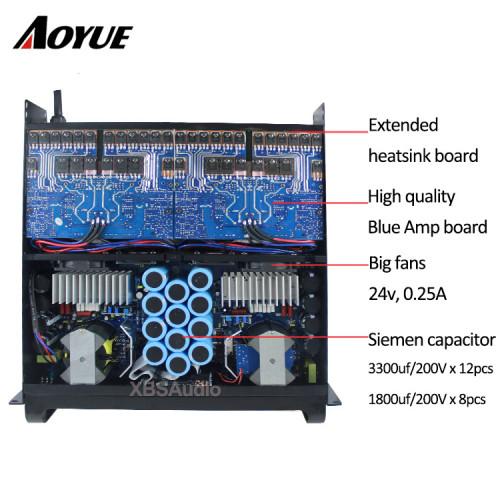 gran potente amplificador de potencia profesional de 4000 vatios FP20000q para doble subwoofer de 18 pulgadas
