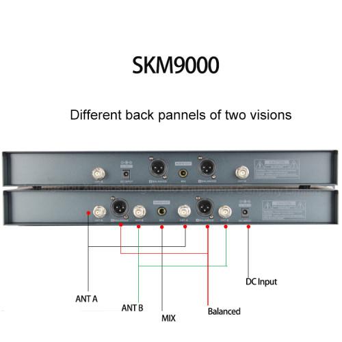 Outdoor UHF Professional 4 Antenne Wahre Vielfalt Handheld SKM9000 Wireless-Mikrofon-System