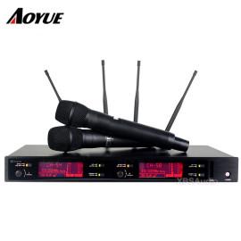 Son UHF profesyonel sahne performansı AXT220D el dijital kablosuz mikrofon