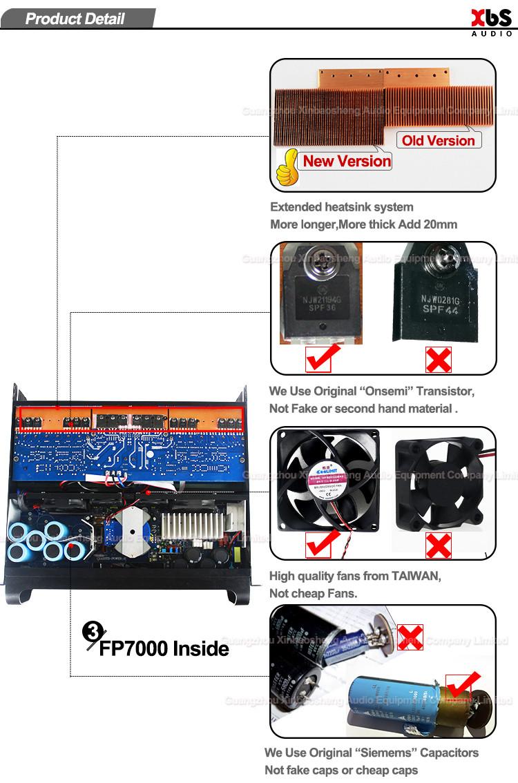 Sinbosen FP7000 1500watt 2 channel professional extreme