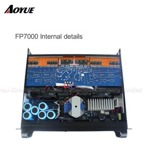 Amplificador de potencia FP7000 de módulo extremo profesional de 7000 vatios con 2 canales