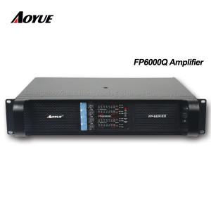 preço 4 canais dj profissional 700 w modo de comutação fornecer amplificador de potência FP6000q