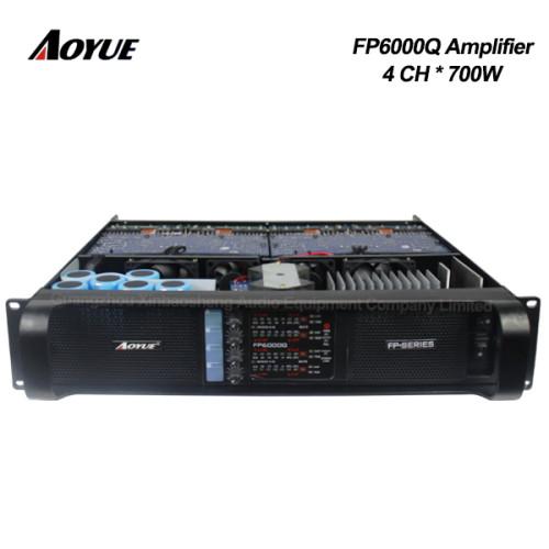 precio 4 canales dj profesional 700w fuente de alimentación de modo de conmutación amplificador de potencia FP6000q