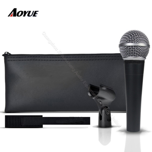 Alta calidad profesional con cable voz dinámica móvil bobina clon SM-58 lc micrófono