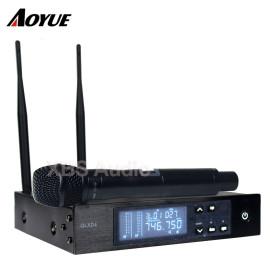 Alüminyum kutu ile UHF Dijital Tek Kablosuz El Mikrofonu Sistemi (QLXD4 + QLXD2 / SM-58)