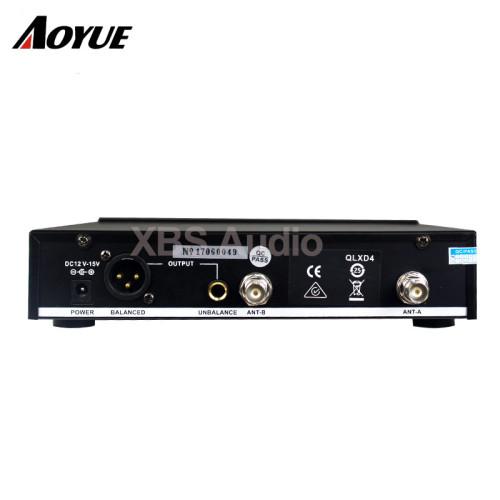 Sistema de micrófono de mano inalámbrico digital UHF individual (QLXD4 + QLXD2 / SM-58) con caja de aluminio