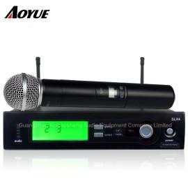 Yüksek kaliteli Kablosuz akülü Canlı Vokaller kablosuz alıcı el Mikrofon SLX4 / SM-58