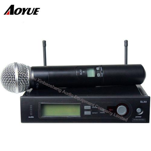 Micrófono SLX4 / SM-58 inalámbrico inalámbrico de alta calidad del receptor inalámbrico de las voces en vivo de la alta calidad