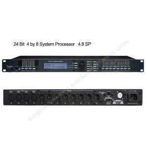 Ashely 4-In x 8-Out DSP karaoke profissional processador de áudio digital 4.8sp para o sistema de PA