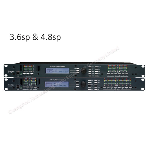 Ashely 4-In x 8-Out DSP procesador de audio digital karaoke profesional 4.8sp para sistema PA
